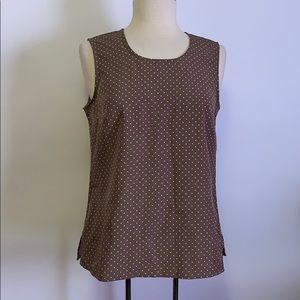 NWT Appleseed's Polka Dot Tank Size SP